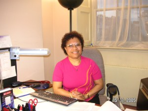 At the office sometime in 2005