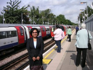 Off to the office - waiting for the Jubilee Line