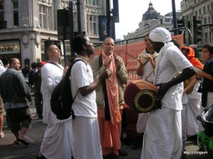 Hare Krishas at Oxford Circus