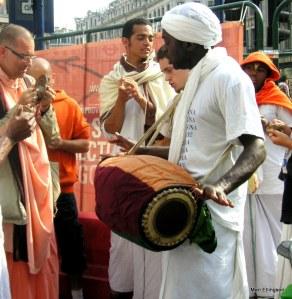 Hare Krishnas at Oxford Circus
