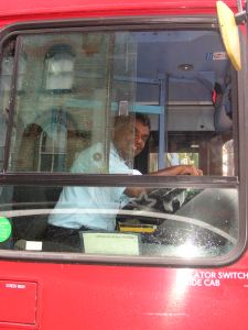My Pic of the Day! He even opened the glass window...what a man what a country...