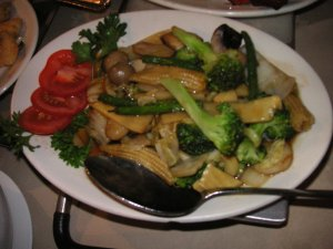 Mixed veggies - mistook the button mushrooms for olives! pilisi o...