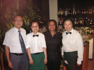 Me with the A team at Hees Chinese Restaurant