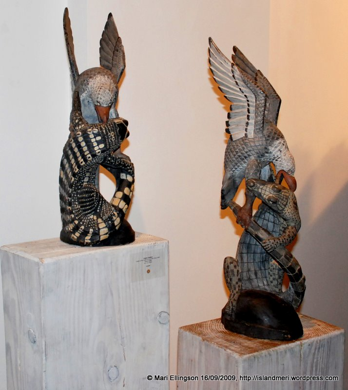 Origin of the Eagle and Crocodile Clans by Claytus Yambon (Wood Carver)
