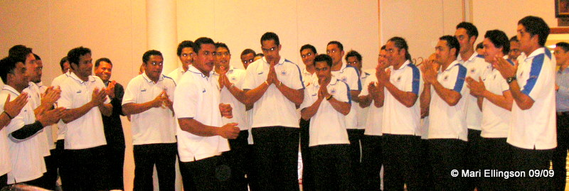 The Manu Samoa male choir - simply wonderful