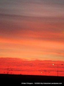 Orange greys and a dark foreground...