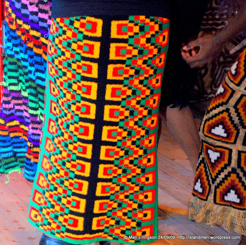 Stunning colours of the newest fabric from PNG to the fashion world.