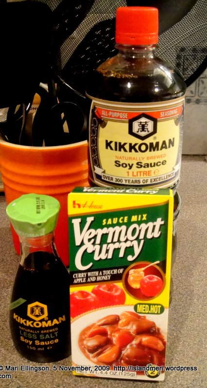 Soy sauce and Japanese curry from Japan Centre, London